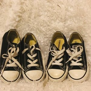 Converse lot of 2 sneakers great for twin boys